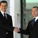 Former Russian President Dmitry Medvedev with Current Syrian Present Bashar Assad