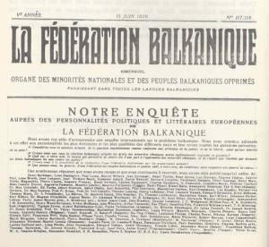 La Federation Balkanique