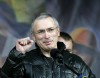 Former Russian oligarch Mikhail Khodorkovsky in Kiev