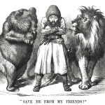 Political Cartoon from 1878 Depicting Russia and the UK Eyeing Central Asia