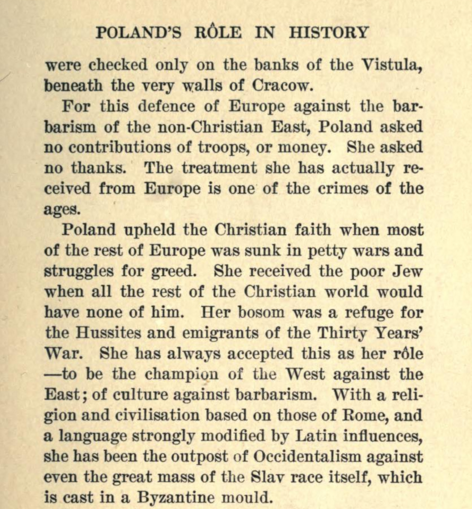 "Excerpt from ""Poland: The Knight Among Nations"" by Louis E. Van Norman, published in 1908"