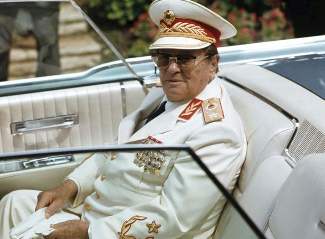 tito josip broz dnevnik slike 1510 2009  uniforma bela  kolor arhiva