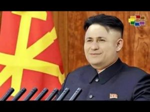 VMRO-DPMNE's leader Nikola Gruevski... or perhaps North Korea's Kim-Jong-Un?