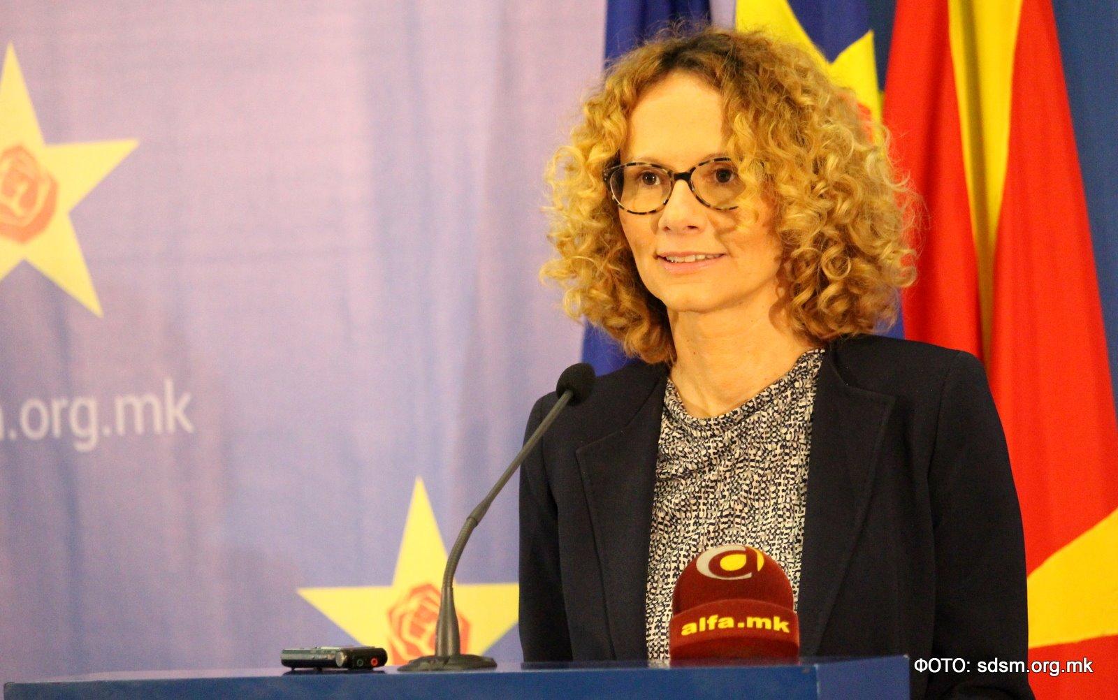 Former European Integration Minister Radmila Sekerinska