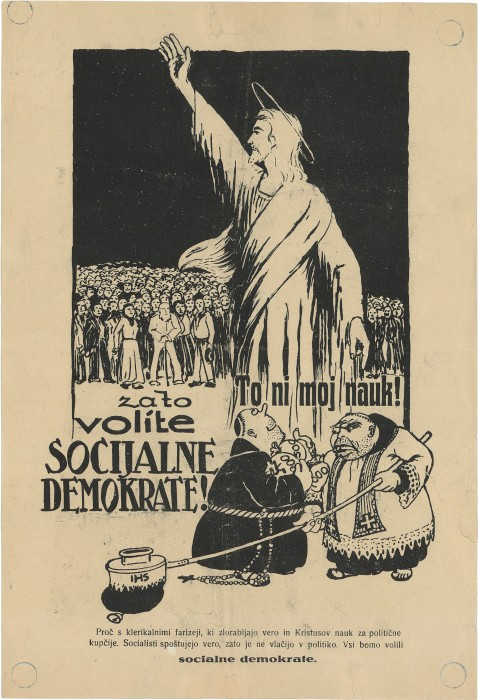 """That's no doctrine of mine! So vote for the Social Democrats!"""