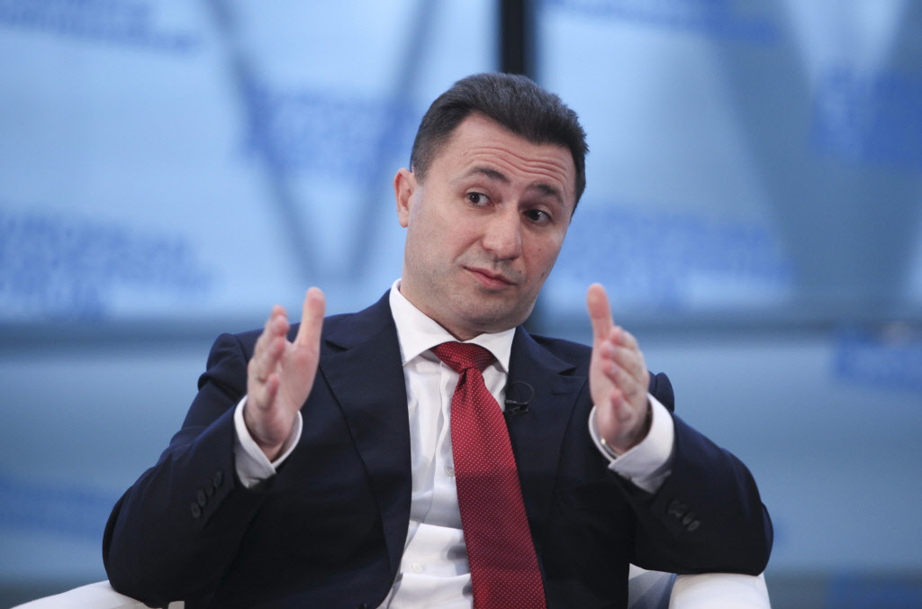 Ex-Prime Minister Nikola Gruevski