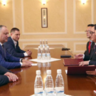 Moldovan and North Korean representatives in Chisinau