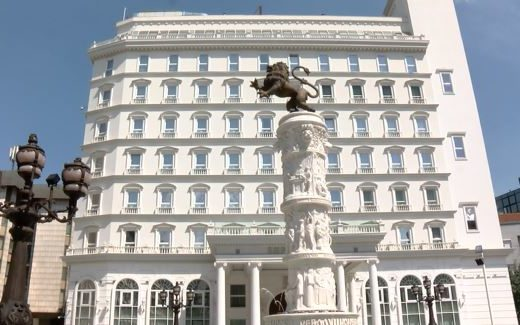 VMRO-DPMNE's opulent headquarters in Skopje