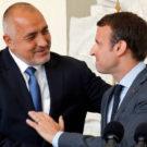 Bulgarian Prime Minister Boiko Borisov with French President Emmanuel Macron